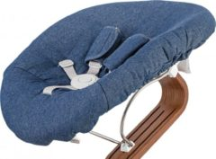Blauwe Nomi baby matras Premium Denim