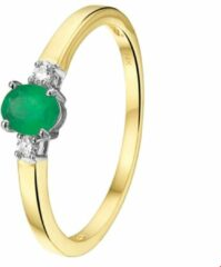 Groene The Jewelry Collection Ring Smaragd En Diamant 0.05ct H Si - Bicolor Goud
