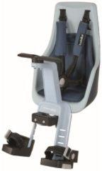 Blauwe Bobike Exclusive Mini Plus Fietsstoeltje - Stuurbevestiging - Denim Deluxe