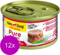 Gimdog Little Darling Pure Delight 85 g - Hondenvoer - 12 x Tonijn&Rund