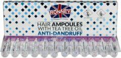 RONNEY Hair Ampoules Anti Dandruff ampułki do włosów z olejkiem z drzewa herbacianego przeciwłupieżowe 12x10ml