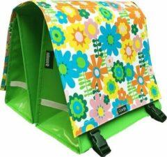 Groene Clarijs Fietstas XL In Bloom