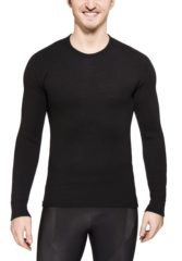 Zwarte Woolpower Crewneck 200 merino ondergoed zwart Maat S