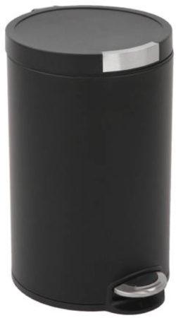 Afbeelding van Zwarte EKO pedaalemmer artistic - 12 liter - zwart