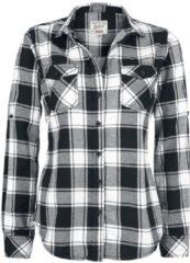 Brandit Amy Flannel Checkshirt Camicia donna nero/bianco