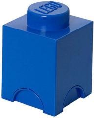 Blauwe Lego Storage brick - Blauw - 12,5 cm x 12,5 cm - 18 cm - 1L2