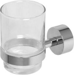 Roestvrijstalen Plieger Murcia bekerhouder met glas inox 4784162