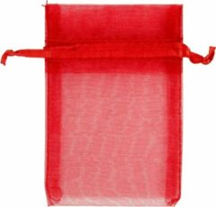 Creativ company Organza zakjes, rood, afm 7x10 cm, 10stuks