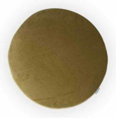 Nolon universeel zitkussen - Rond - Velvet - Avocado groen