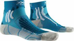 X-socks Hardloopsokken Run Speed Two Unisex Blauw/grijs Mt 45-47