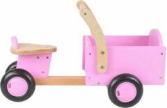 Roze Bandits And Angels - Houten Bakfiets Litte Rider Pink