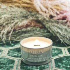 Groene My Flame Lifestyle SOJAKAARS - CUDDLES - GEUR: MINTY BAMBOO