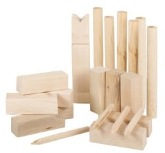 Bruine Eddy Toys Kubb-spel - hout - inclusief opbergzak - small