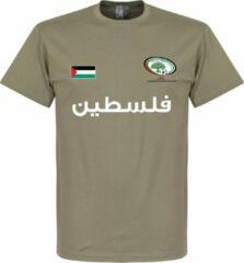 Kaki Retake Palestina Football T-Shirt - Khaki - L