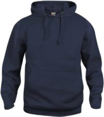 Blauwe Clique Basic hoody Donker Navy maat L