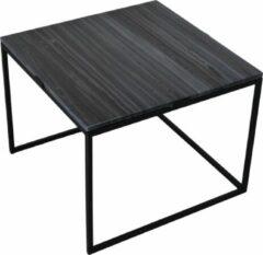LOFT42 Marble L Bijzettafel Vierkant Zwart - Metaal - Marmer - 43x55x55