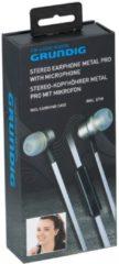 Grundig Oordopjes met Microfoon - Metal Pro Zilver