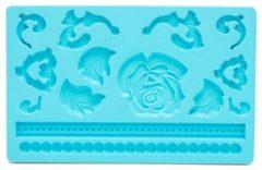 Blauwe Patisse siliconen fondant vorm - 20 x 12 cm