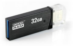 Zwarte ABC-Led Micro USB - USB 3.0 - OTG flashdrive - 32GB