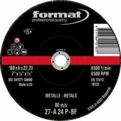 Afbraamschijven voor staal en gietijzerbewerking met kom 115x6mm FORMAT