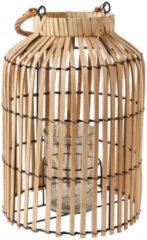 Beige Xenos Lantaarn bamboe - ø26x37 cm