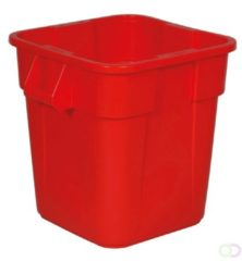 Afvalbak Rubbermaid Vierkante Brute Container 106 liter, Rood
