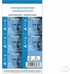 Blister met 10 x 5 zelfklevende vellen met postzegels Bpost Europees Tarief 1 Filip