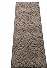 Ihlasim decoratie Tapijtloper bruin motief 80cm op 300 cm