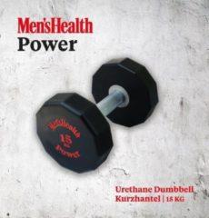 Zwarte Men's Health Urethane Dumbbell 15 kg - Crossfit - Oefeningen - Fitness gemakkelijk thuis - Fitnessaccessoire