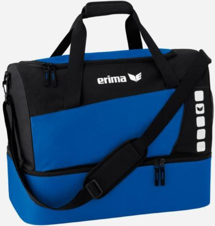 Afbeelding van Erima Club 5 Sports bag with bottom compartment - New Royal / Black