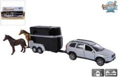 Kids Globe Volvo XC90 met paardentrailer - Speelgoedvoertuig: 27 cm