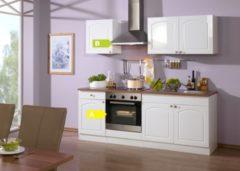 HELD Möbel Küchenzeile Rom 210 cm Hochglanz weiß - inkl. E-Geräte