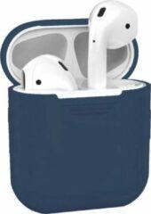 Blauwe Airpods Hoesje - Airpods Case - Hoesje voor Airpods - Airpods Hoesje Siliconen Case - Airpods 1 Hoesje - Airpods 2 Hoesje - Airpods Case Silicone - Airpods Pro Case - Airpods Hoes - Airpods Case Hoesje - Airpods Hoesje Gmedia®