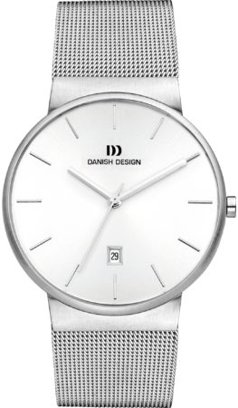 Afbeelding van Danish Design IQ62Q971 horloge heren - zilver - edelstaal