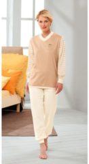 Götting Schlafanzug naturbelassen mit hochwertigem Stickmotiv Single-Jersey Götting natur