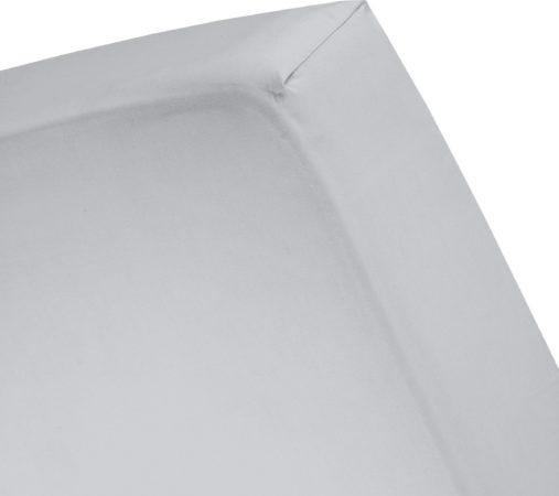 Afbeelding van Cinderella Basic percaline katoen hoeslaken - 100% percaline katoen - Lits-jumeaux (160x200 cm) - Grijs