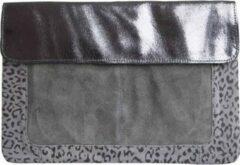 Groene PIECES Marieva Leather Clutch Castlerock