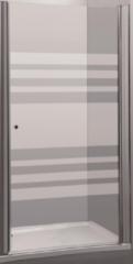 Douchedeur Allibert Priva 76-80x190 cm Zwaaibaar Gelijnde Glaswand Chroom