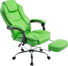 CLP Bürostuhl CASTLE mit Kunstlederbezug I Ergonomischer Bürosessel mit höhenverstellbarer Sitzhöhe I Drehstuhl mit ausziehbarer Fußablage