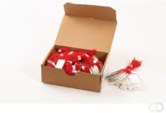 Rode Herma Strung marking tags 7x15mm with red string 1000 pcs.
