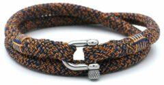 MR. JACOB Hugo oranjeblauwe dubbele touw armband