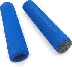 MTB Cycling MTB soft FOAM spons handvatten GRIP 130mm - 25g LICHTGEWICHT - Blauw