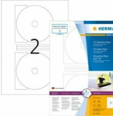 CD-etiketten Herma 4460 Maxi A4 Ø 116 mm wit papier mat ondoorzichtig 200 st.