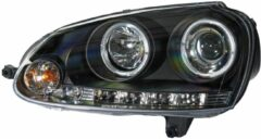 Universeel Set Koplampen Volkswagen Golf V 2003-2008 - Zwart - incl. Angel-Eyes