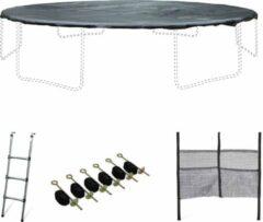 Alice's Garden Accessoire set voor trampoline Ø490cm met ladder, beschermhoes, opbergnet voor schoenen en verankeringskit