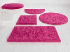 Rosa Badematte »Jari«, Guido Maria Kretschmer Home&Living, Höhe 30 mm, rutschhemmend beschichtet