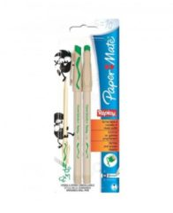 Paper Mate Blister 2 Penne Cancellabili Replay Flash Verde