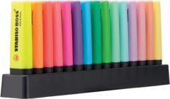 Stabilo Textmarker STABILO BOSS® ORIGINAL 15 stuks/pack Veelkleurig gesorteerd 2 mm, 5 mm