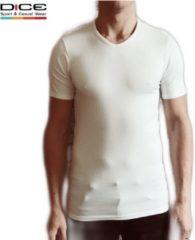 DICE Underwear DICE heren T-shirt V-hals wit maat M
