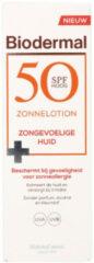Biodermal Zonnelotion Droge Huid - zonnebrand voor de droge huid - Spf50+ - 100ml - ook geschikt voor kinderen